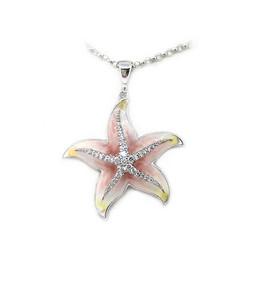 Enamel and Diamond Sea Star