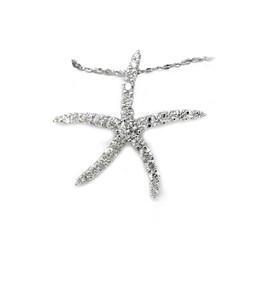 14K Diamond Sea Star Pendant