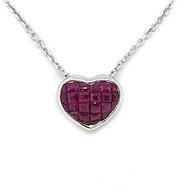 14K Ruby Heart