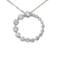 18K Circle Diamond Necklace