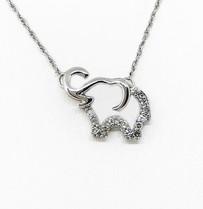 10K Diamond Elephant Necklace