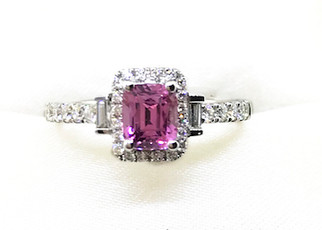 18KW Pink Sapphire Ring