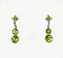 18K Pridot Earrings