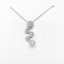 14K Diamond Drops Pendant