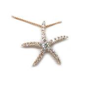 14K Rose Gold Diamond Sea Star