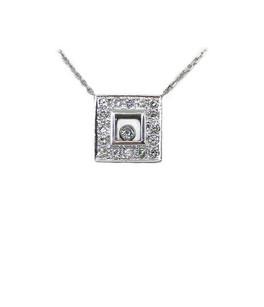 14k Floating Diamond Necklace