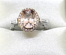 18KW Morganite Ring