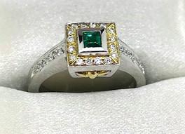 18K Emerald Ring