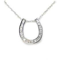 14K Diamond Horseshoe