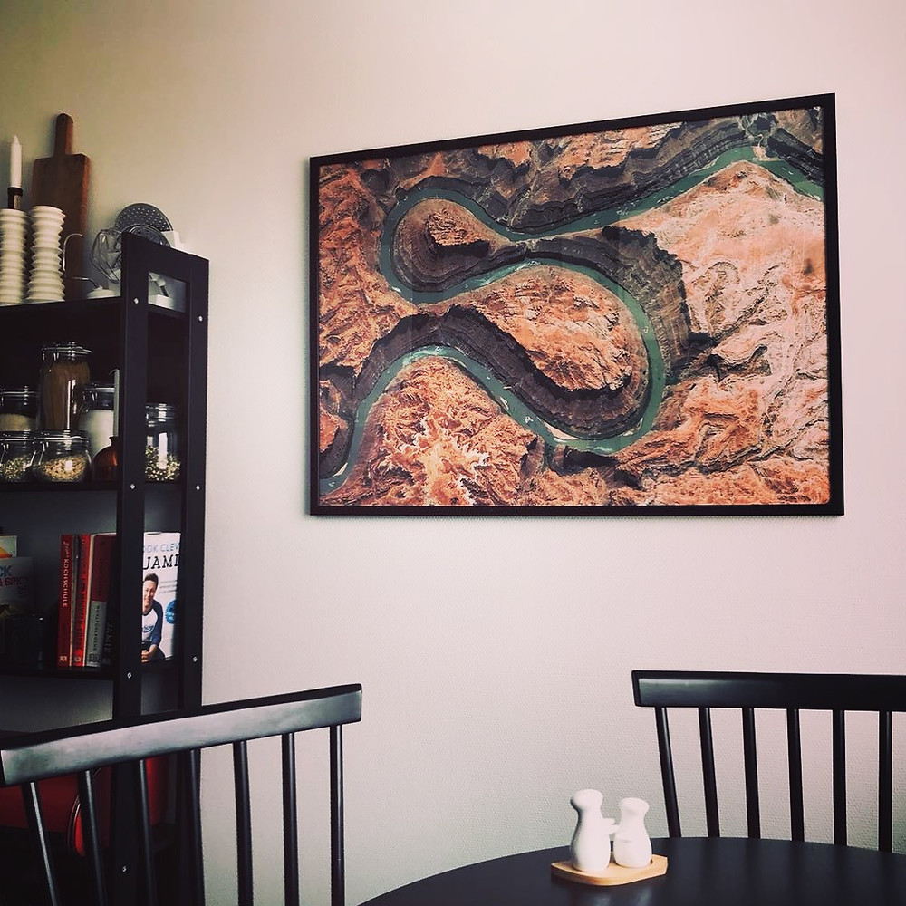 satellite image poster of canyonlands national park