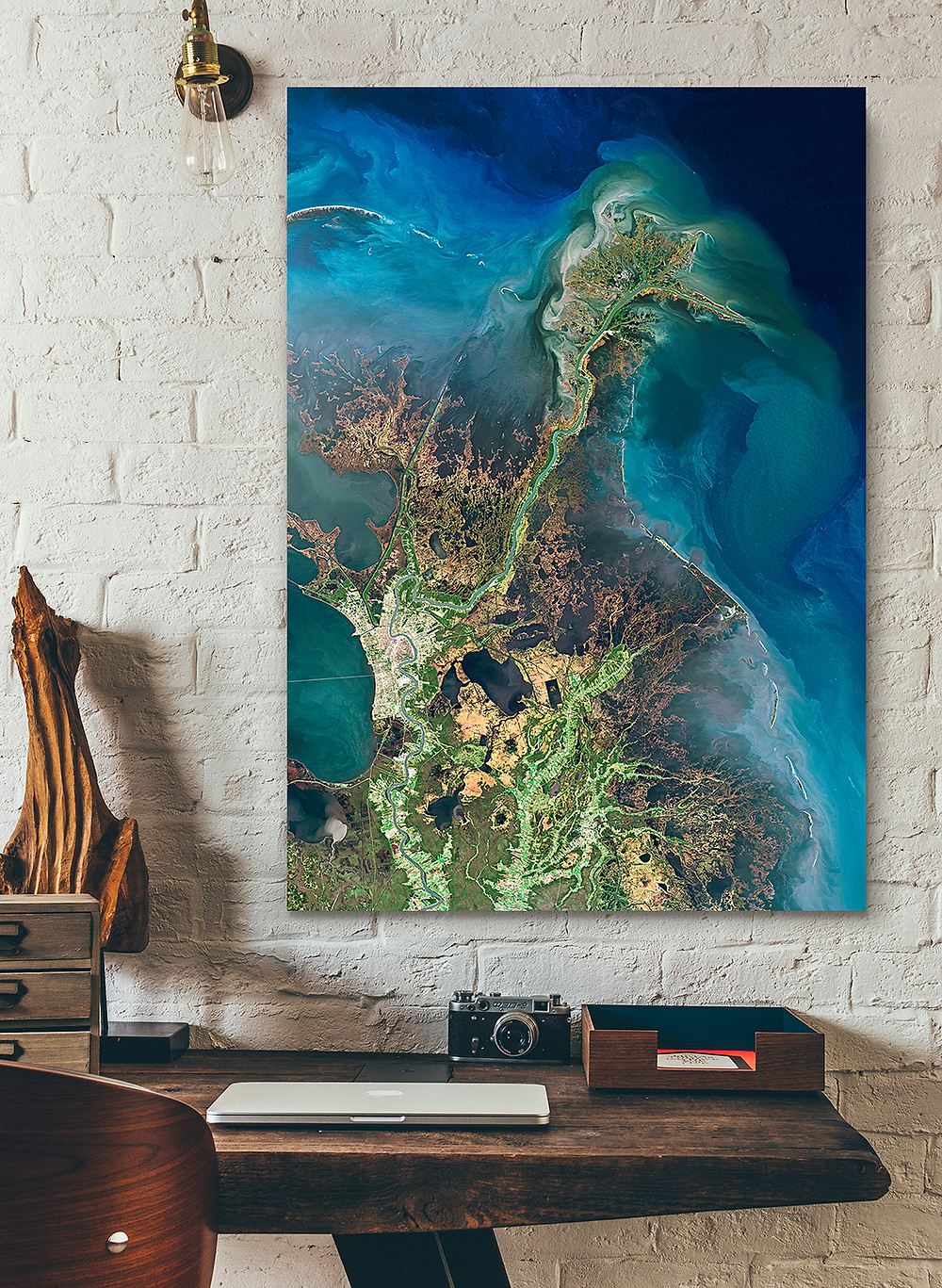 "Poster of Satellite Image ""Mississippi River Delta"""