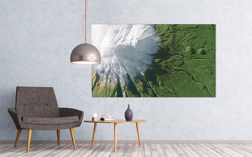Mount Taranaki as Premium Print