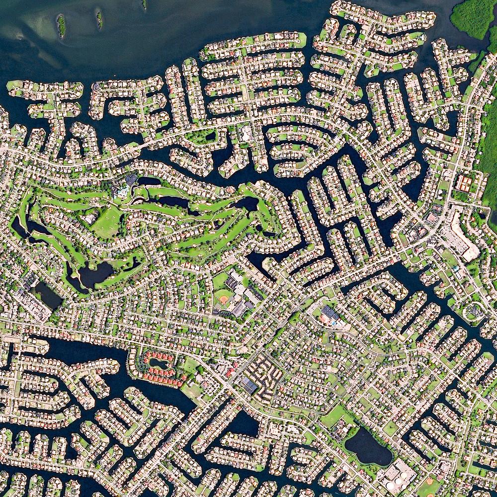 Marco Island satellite image
