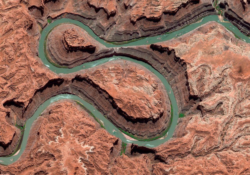 Satellite Image of Canyonlands, USA