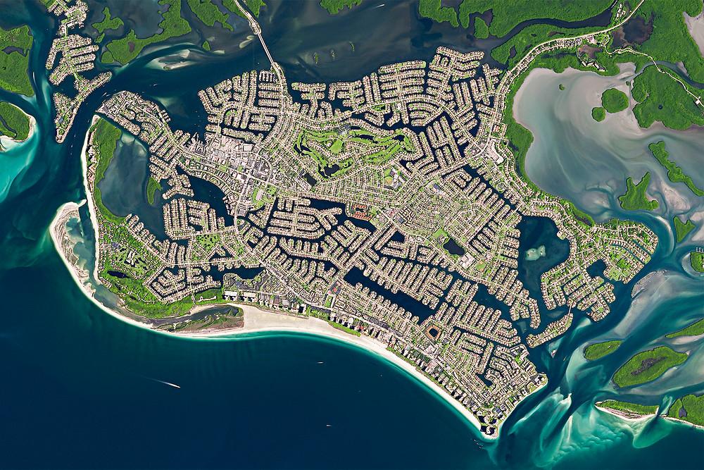 Satellite Image of Marco Island
