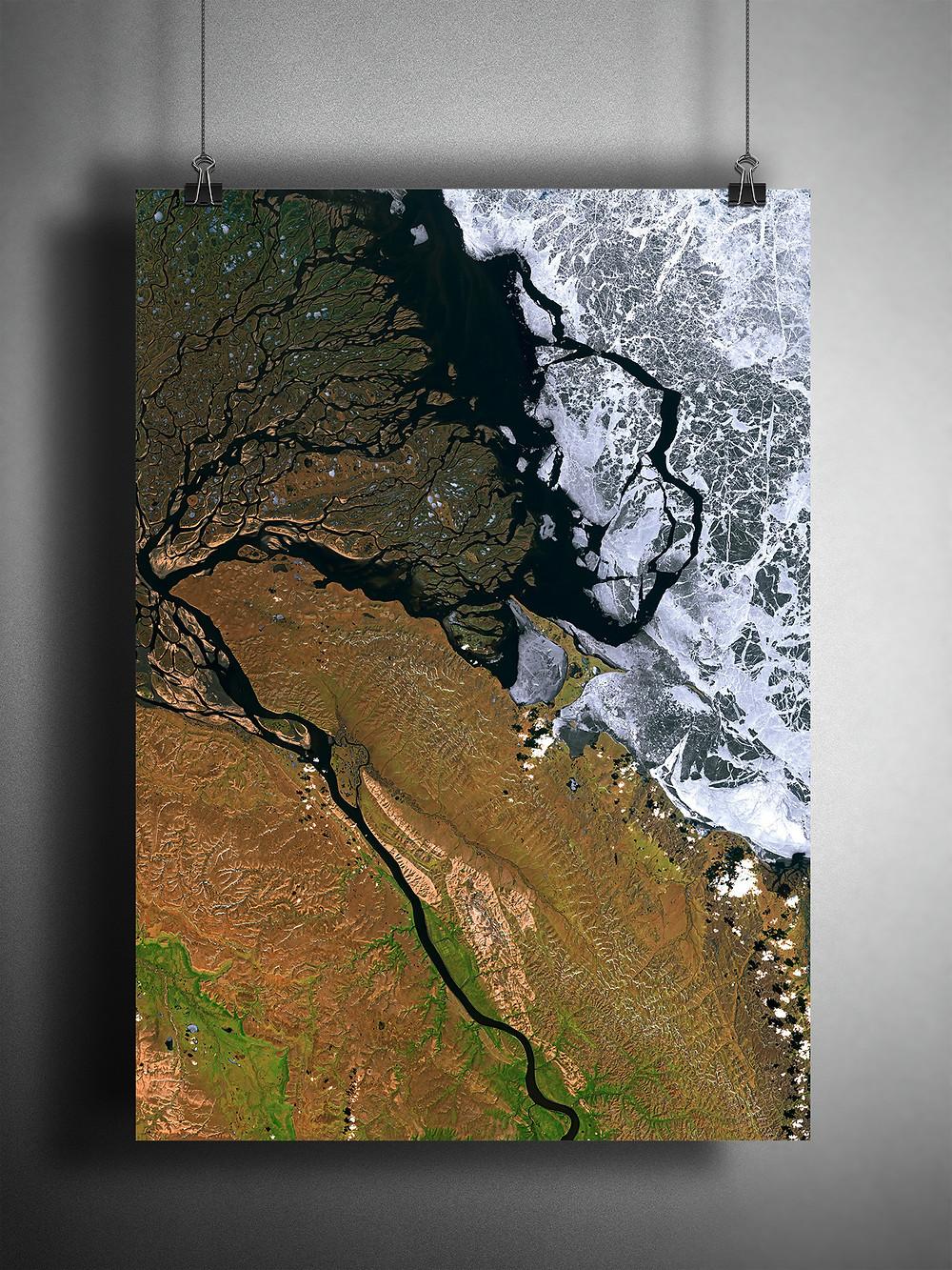 Poster of motif Lena River Delta