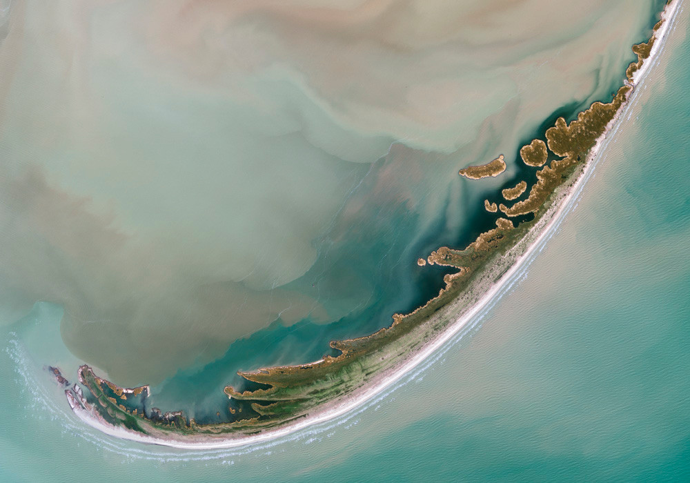 Satellite image of Danube Delta