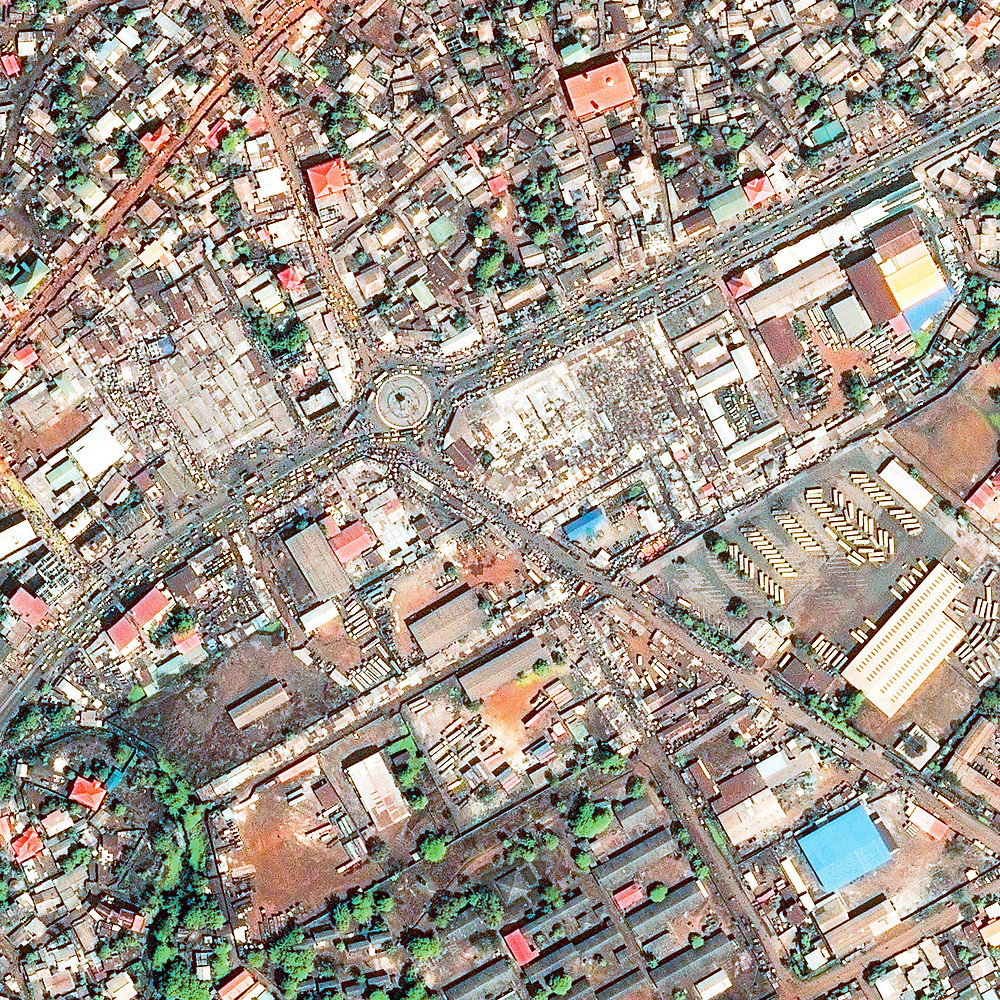 Conakry Traffic Chaos satellite image