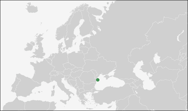 The location of the Danube Delta