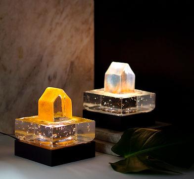 Villa Ocean belyst glaskonst