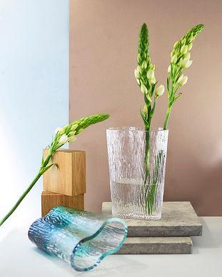 Vas Vitreum heminredning glasvas glaskon