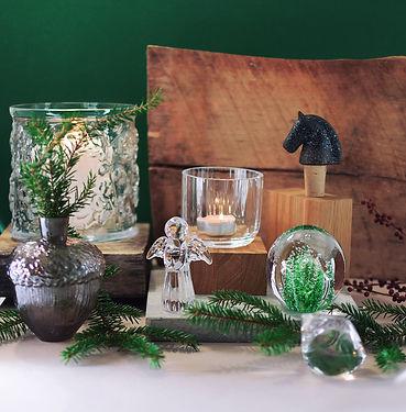 Glasbruk glaskonst glasängel ljuslykta v