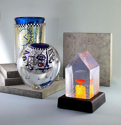 konstglas glaskonst mikael kenlind glasb