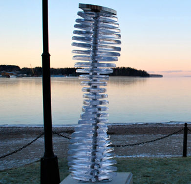 Public art vas vitreum vadstna sweden mikael kenlind