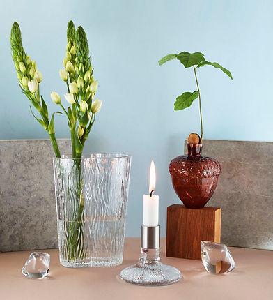 Vas Vitreum inredning ekollonvas glasvas