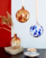 Ornament glaskula svenskt glas Vas Vitre
