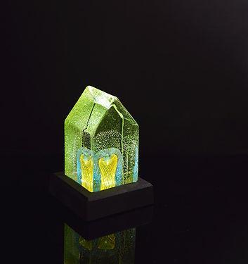 house sea garden belyst glaskonst kenlin