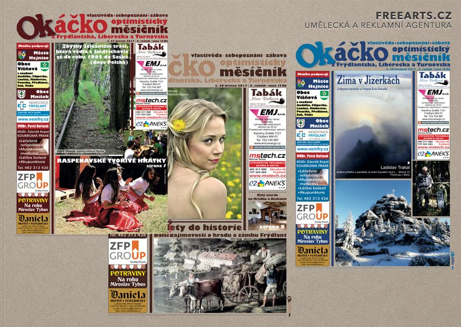 Grafika, sazba a tisk časopisů
