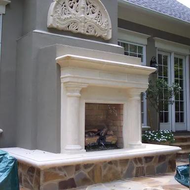 Outside Fireplace