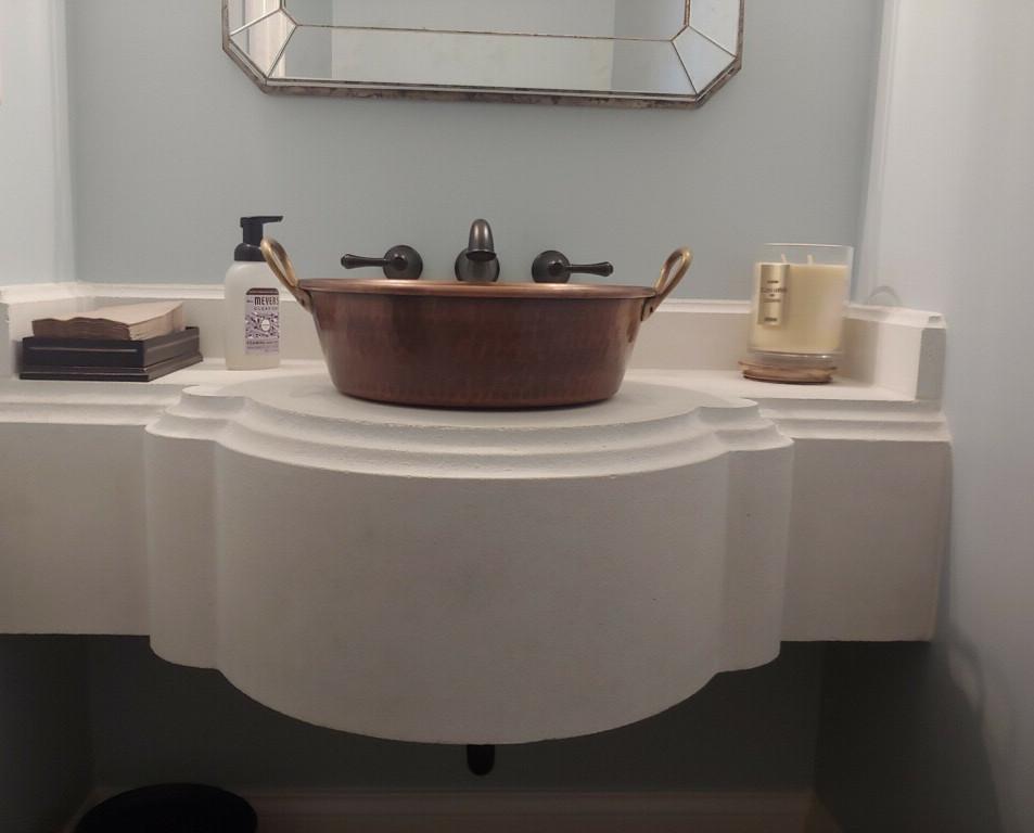 Custom CastStone Vanity Sink