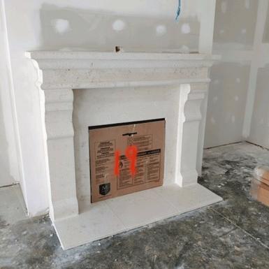 Custom Cast Stone Fireplace