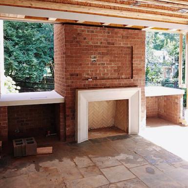 Custom CastStone Fireplace