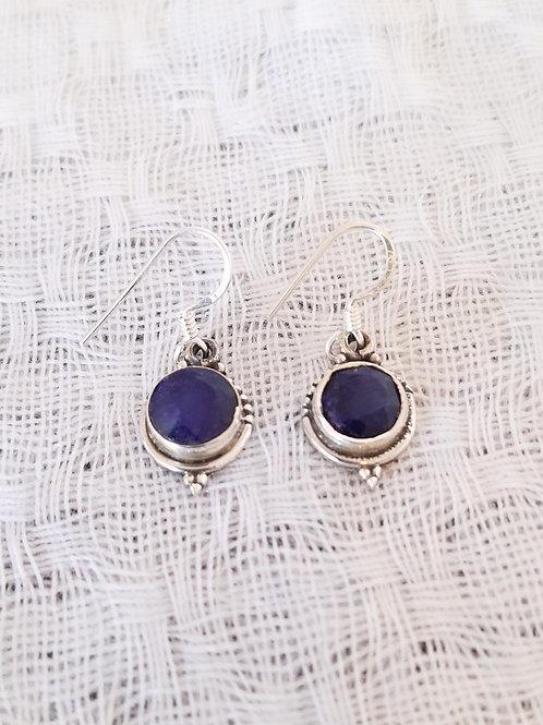 Brinco lapis lazuli