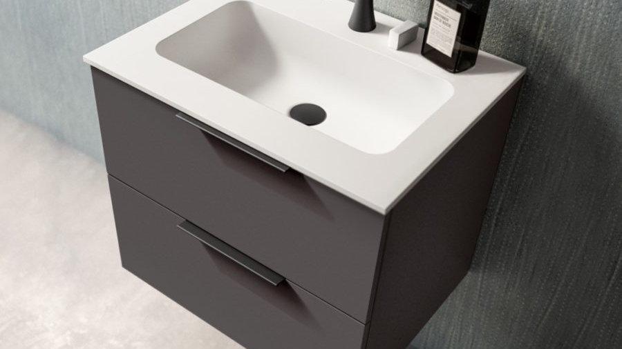 Badeværelseskab  60 cm med Tecnoplan top fra GB Group