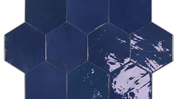 WOZE Zellige Cobalt Hexagon 10,8 x 12,4 cm