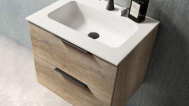 Badeværelseskab 60 cm med tecnomat top Vintage Avana