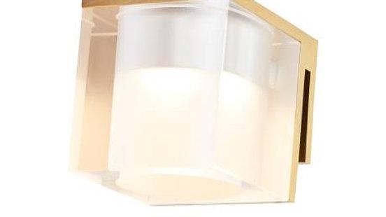 Spejllampe med klart glas i messing