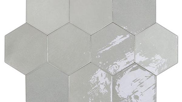 WOZE Zellige Grey Hexagon 10,8 x 12,4 cm