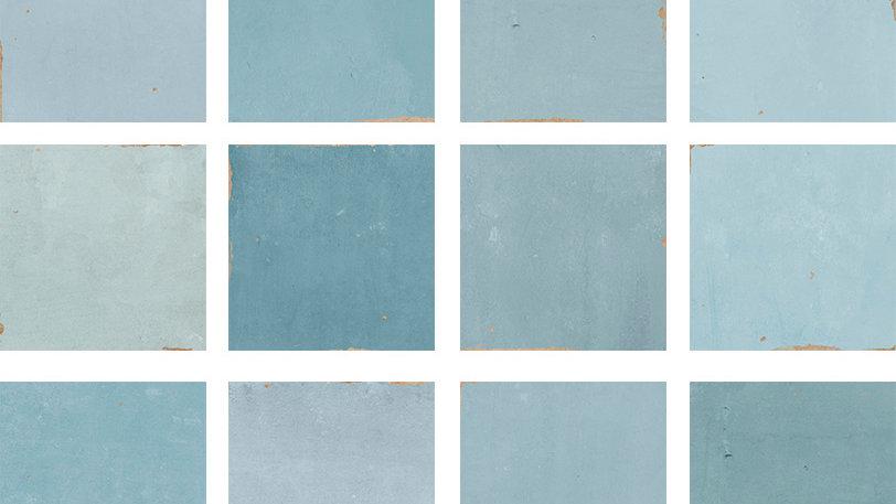 WOZE Zellige Aqua 12,5 x 12,5 cm