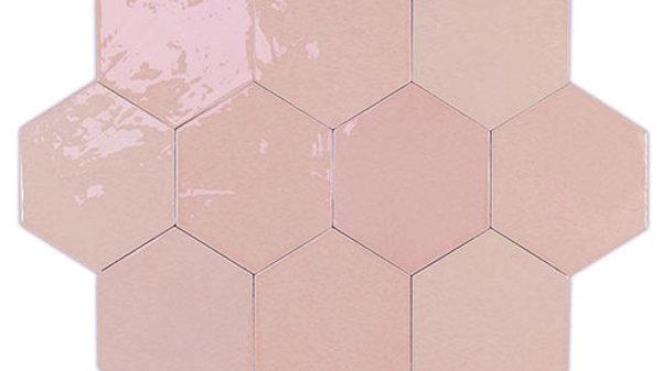 WOZE Zellige Pink Hexagon 10,8 x 12,4 cm