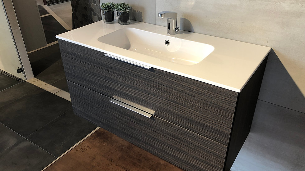 Badeværelseskab 60 cm med tecnoplan top Rovere Caffe