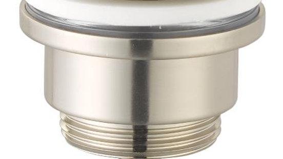 Universal klik ventil i børstet krom