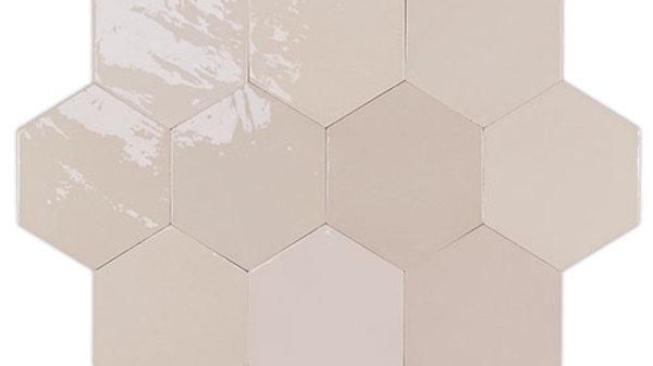 WOZE Zellige Nude Hexagon 10,8 x 12,4 cm