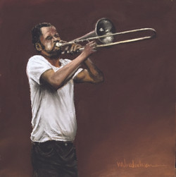 Musicians, Trombone Standing,