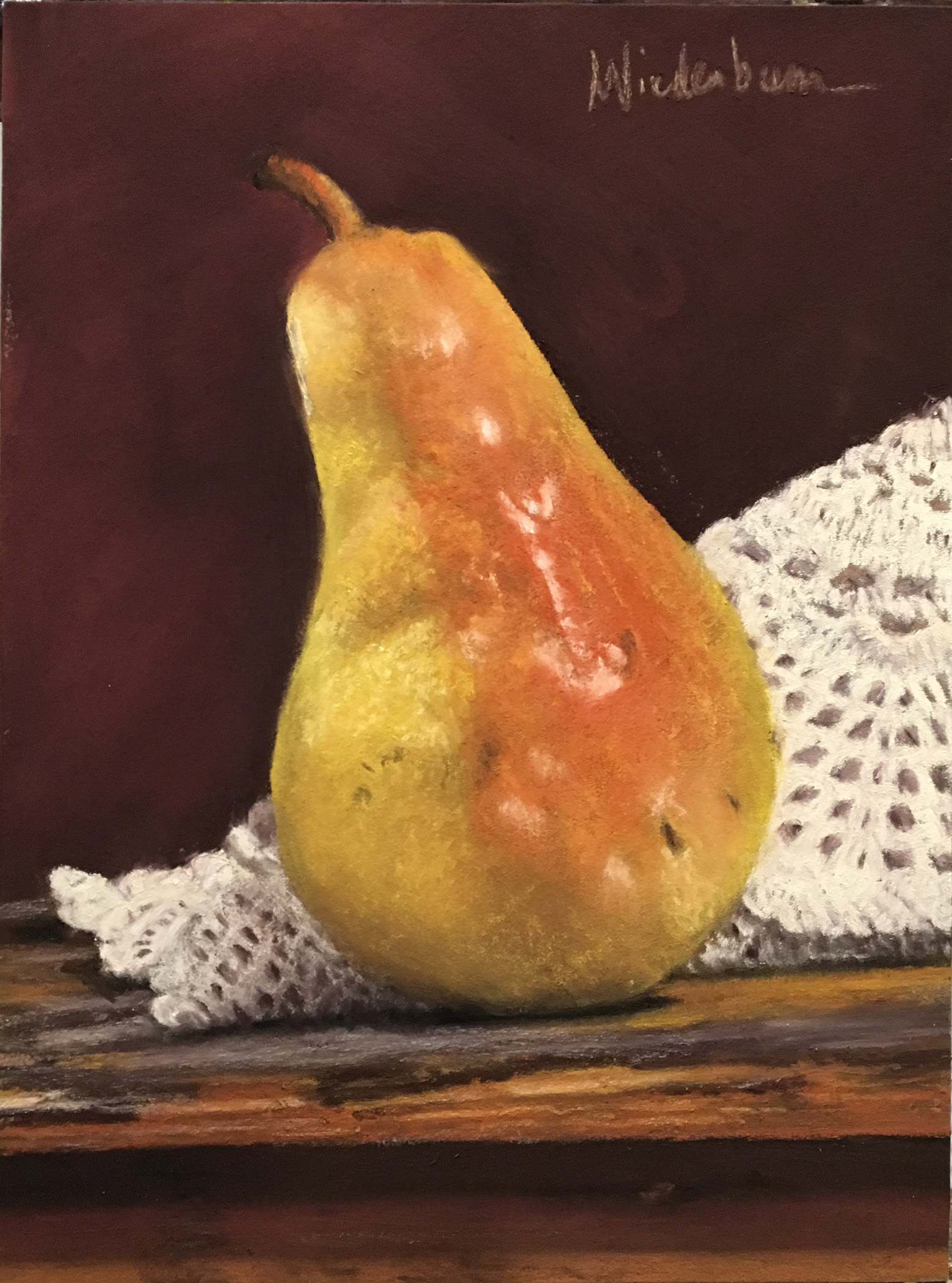 YELLOW PEAR & LACE