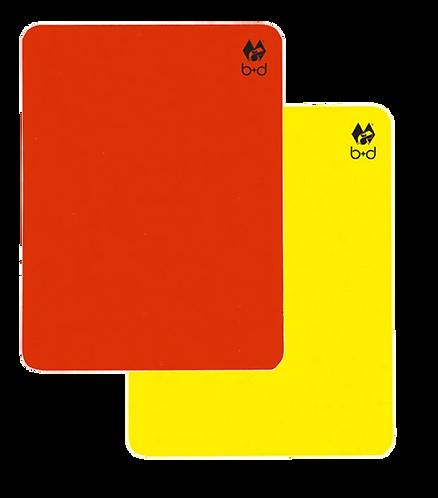 Cartões Vermelho + Amarelo b+d